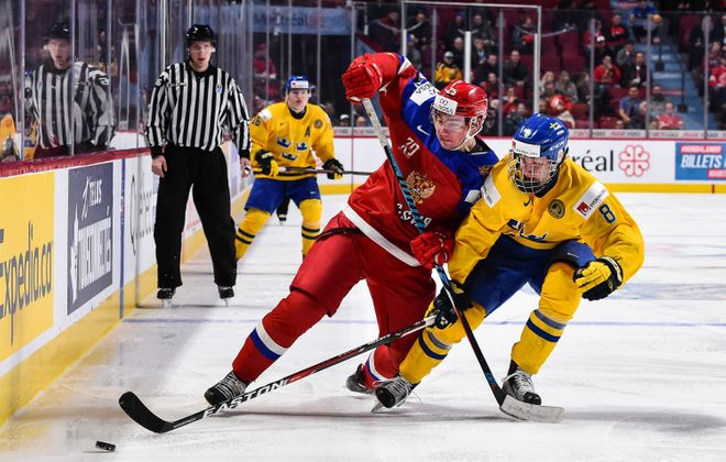 Like Hall of Famer Nicklas Lidstrom, Rasmus Dahlin (8) defends by being in the right place. (Getty Images)