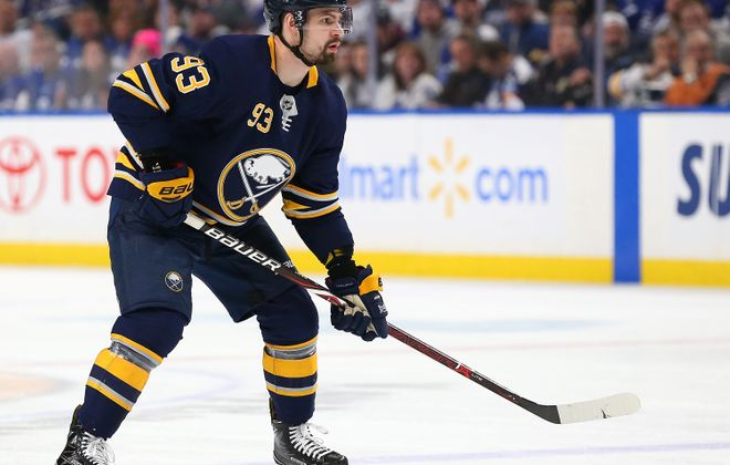The NHL argues there is no link between concussions and CTE. Sabres defenseman Victor Antipin suffered a concussion late in the season. (Getty Images)