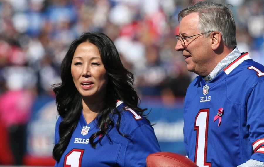 Bills and Sabres owners Kim and Terry Pegula. (News file photo)