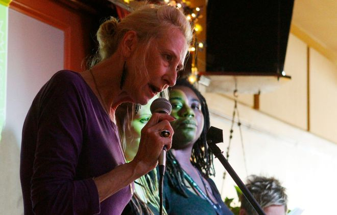 Susan Peters, left, will perform at a free happy hour in Nietzsche's on Monday. (Mark Mulville/Buffalo News)
