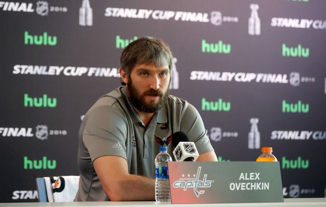 Alex Ovechkin speaks at Media Day Sunday (Getty Images).