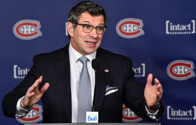 """Habs GM Marc Bergevin  on the 2018 draft: """"There's a cutoff at 1. After that there's a debate between 2 to 5."""" (Getty Images)"""