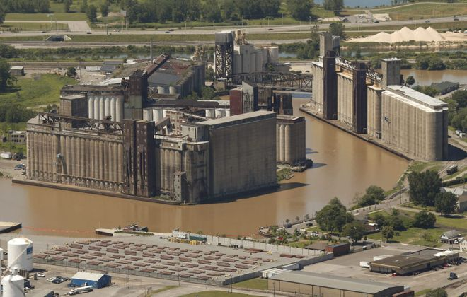 Silo City could become a residential and artistic community. (Derek Gee/Buffalo News)