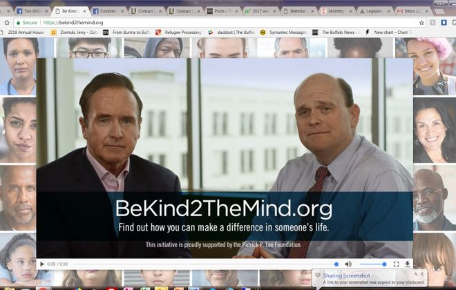 Rep. Brian Higgins, a Buffalo Democrat, and Rep. Tom Reed, a Corning Republican, are backing the Patrick P. Lee Foundation's effort to boost mental health services in America.