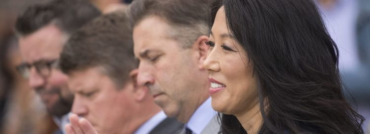 """It was very disheartening that it had to happen,"" Kim Pegula said of Russ Brandon's departure. (Derek Gee/News file photo)"