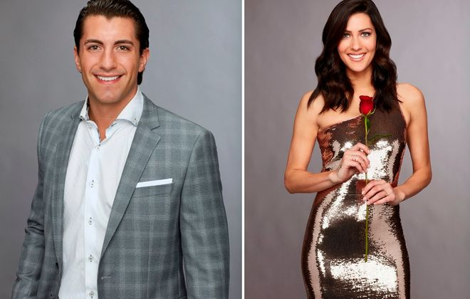 "Buffalo native Jason Tartick, left, and Becca Kufrin from last season's ""The Bachelorette."" (Craig Sjodin/ABC)"