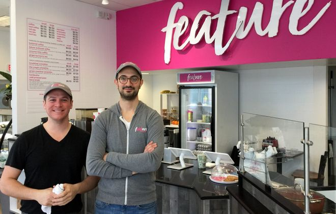 Feature Meals owners Justin Tartick (left) and Mike Khoury. (Andrew Galarneau/Buffalo News)