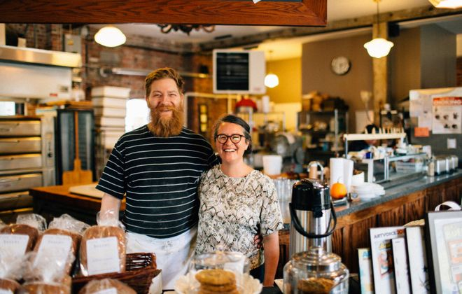 Melissa and Kevin Gardner opened Five Points Bakery on Brayton Street in 2009, expanding into their second floor last year. (Derek Gee/Buffalo News)