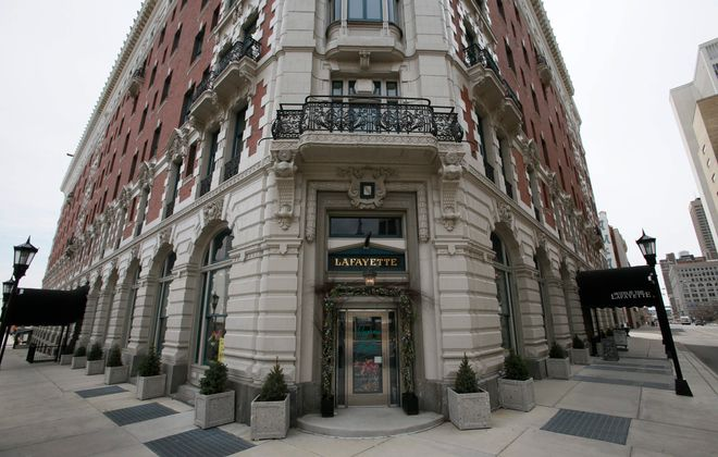 The Hotel @ The Lafayette is among downtown properties that has been revitalized. (Derek Gee/Buffalo News)
