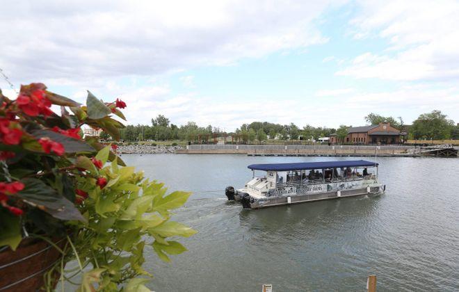 A tour boat sails the Buffalo River. (Sharon Cantillon/News file photo)