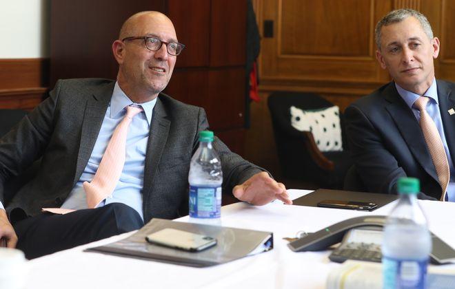 William Maggio (left) of 43North and Rene Jones of M&T Bank say Ignite Buffalo will boost small businesses. (John Hickey/Buffalo News)