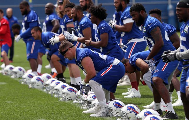 The Bills return to St. John Fisher College for the start of training camp July 26. (James P. McCoy/News file photo)