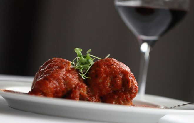Sinatra's was the only restaurant to gain the perfect 10 plate rating from Andrew Z. Galarneau in 2018. Here is the braciole featuring tender, stuffed pork cutlets. (Sharon Cantillon/Buffalo News file photo)