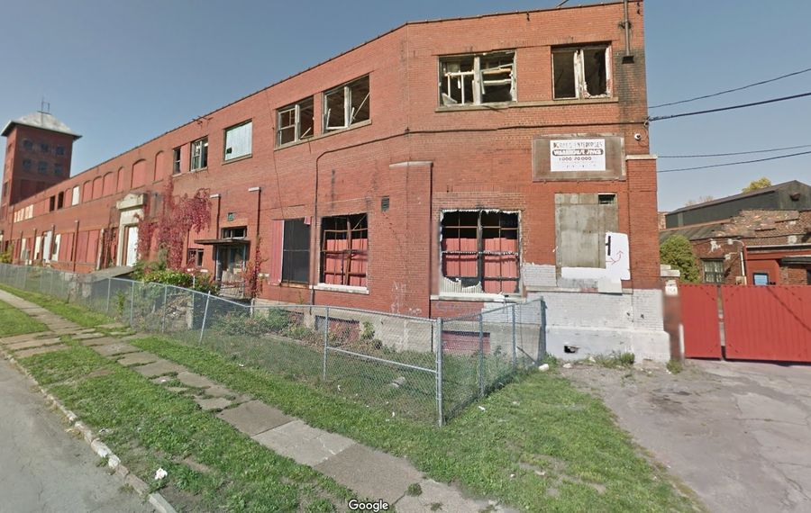 The Buffalo Urban Development Corp. owns this aging industrial property in Riverside that the city plans to demolish, clean up and redevelop. (Google)