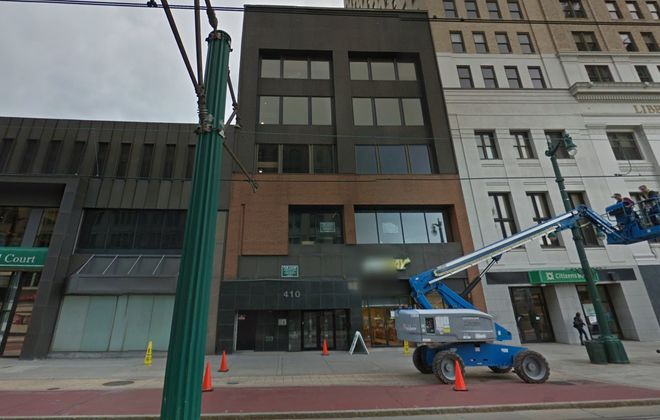 The historic building at 410 Main St. in downtown Buffalo was sold. (Google Maps)