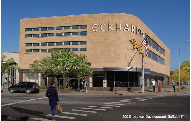Cedarland, owned by Dr. Fadi Dagher, plans to redevelop the former Eckhardt building at 950 Broadway. (Provided image)