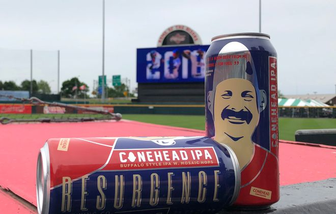 Resurgence Brewing Company's Conehead IPA (Buffalo Bisons photo)