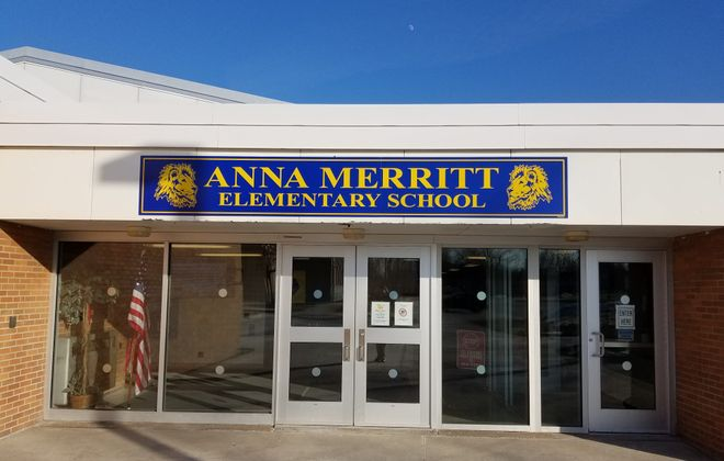 Anna Merritt Elementary School in Lockport, one of 10 buildings where new security cameras and software have been  installed. (Thomas J. Prohaska/Buffalo News)