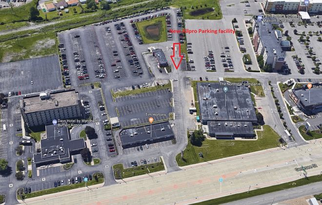 Allpro Parking took over the operation of this parking lot near the Buffalo Niagara International Airport from Ellicott Development.