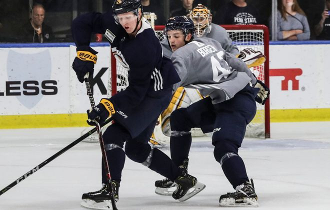Rasmus Dahlin will make his Sabres preseason debut tonight against Pittsburgh. (James P. McCoy/Buffalo News)