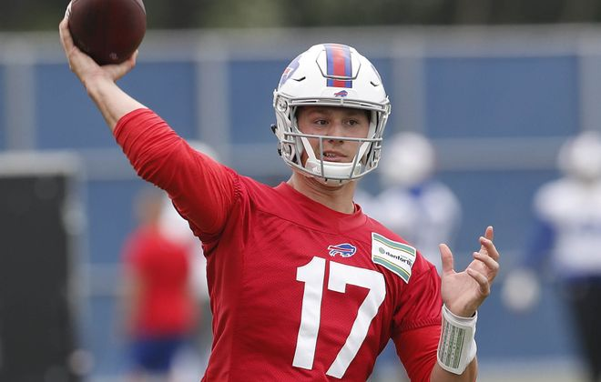 Josh Allen put together a solid spring for the Buffalo Bills, but the real test will come in training camp. (Mark Mulville/Buffalo News)