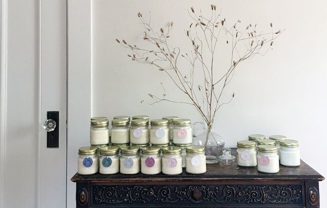 Buffalo-native Amy Lisso handcrafts each Linwood Candle. (Linwood Candles)