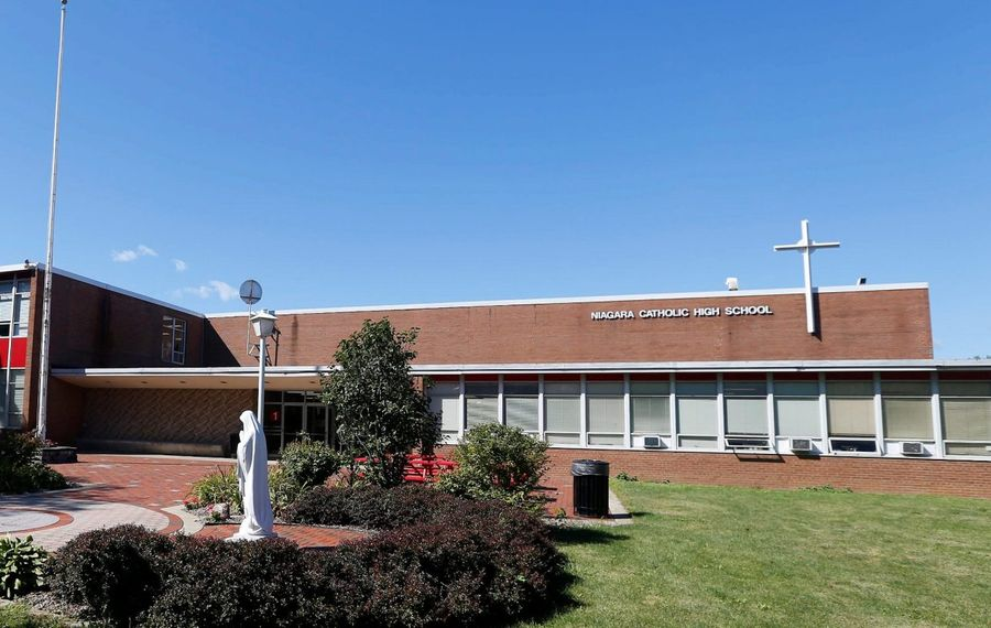 Niagara Catholic High School, which closed in June 2018, has been purchased by The Chapel at CrossPoint. (Mark Mulville/Buffalo News)