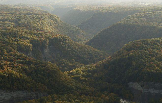 An aerial photograph of Zoar Valley. (Derek Gee/News fie photo)