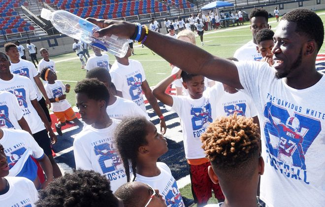 Tre'Davious White at his football camp in his hometown of Shreveport, La. (Photo courtesy of Henrietta Wildsmith/Shreveport Times)