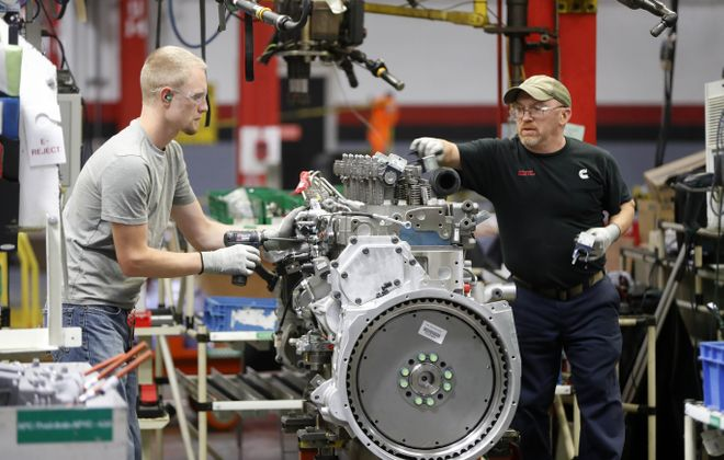 Cummins Inc.'s engine plant near Jamestown set a production record in 2018. (News file photo)