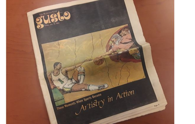 The cover of the July 19, 1985, edition of Gusto.