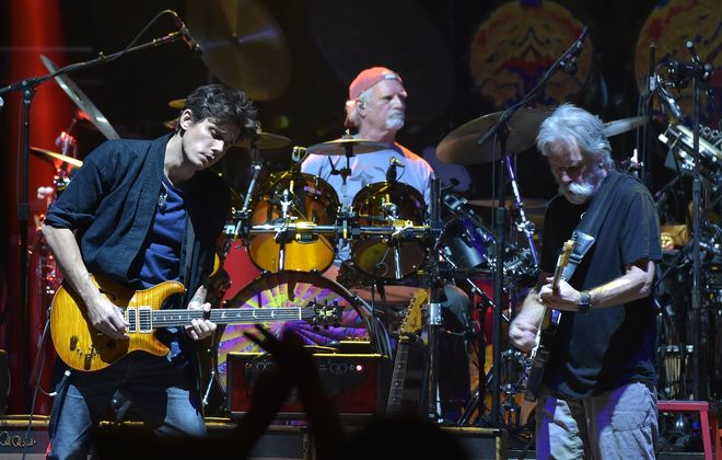John Mayer, Bill Kreutzman and Bob Weir of Dead & Company perform at Madison Square Garden on October 31, 2015, in New York City. (Theo Wargo/Getty Images)