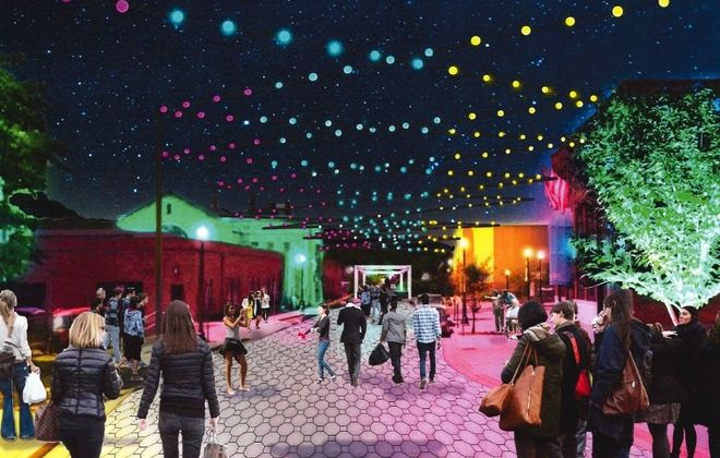 A rendering of KeyBank Plaza at the National Comedy Center.