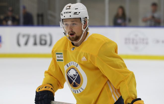 Rasmus Asplund during the 2018 Sabres Development camp  (James P. McCoy/Buffalo News)