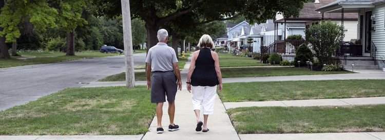 Michael and Margie Oliveira have lived in three different homes in Love Canal area, including the house they live in today on 93rd Street. (Shuran Huang/Buffalo News)