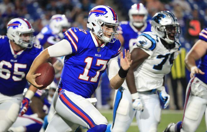 Buffalo Bills quarterback Josh Allen. (Harry Scull Jr./Buffalo News)
