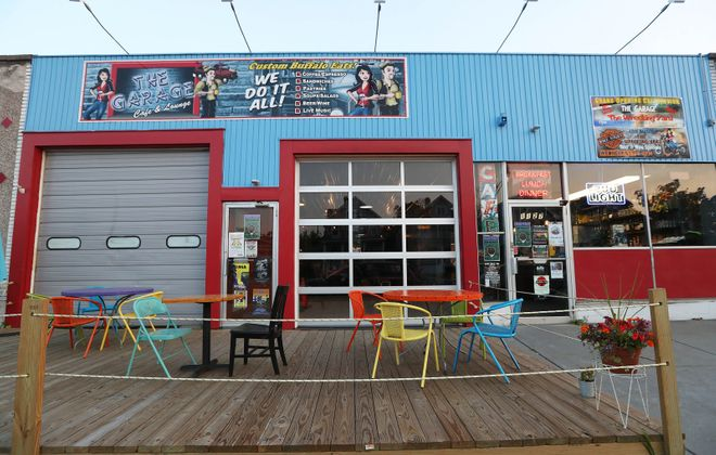 Co-owner of the Garage Cafe Lisa Riniolo joins Black Sheep owner Steve Gedra in appealing to the state for a delay in sales tax payment. (Sharon Cantillon/News file photo)