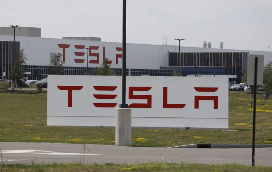 The Tesla factory at RiverBend on South Park Avenue. (Derek Gee/News file photo)