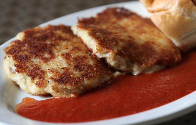 Mandy's Cafe's hot pepper cakes are a popular appetizer, a Mandy's creation inspired by the traditional stuffed peppers. (Sharon Cantillon/Buffalo News)
