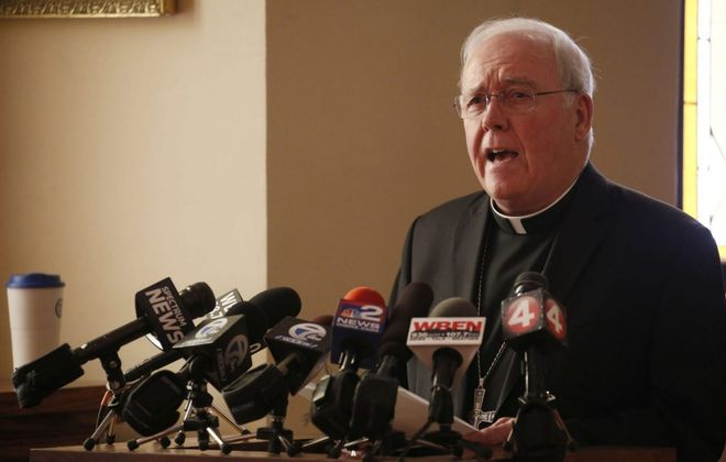 Bishop Richard J. Malone has announced a series of initiatives responding to the Catholic church's sex abuse scandal. The initiatives were drawn up in consultation with the Movement to Restore Trust. (Robert Kirkham/News file photo)