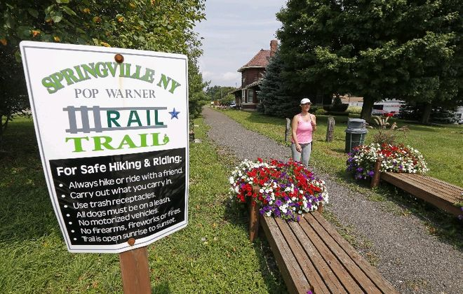 The success of the Pop Warner Trail in Springville should give reassurance to those worried about a planned 27-mile trail linking Orchard Park to Ashford in Cattaraugus County.  (Robert Kirkham/Buffalo News)
