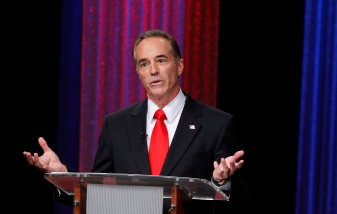 Former Rep. Chris Collins was sentenced Friday after pleading guilty to charges involving insider trading. (Harry Scull Jr./News file photo)
