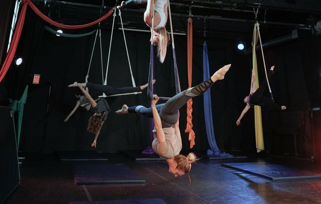 Erica Cope discovered aerial dance while living in Seattle. She launched her own studio in Buffalo after moving back here for graduate school. (Dave Jarosz)