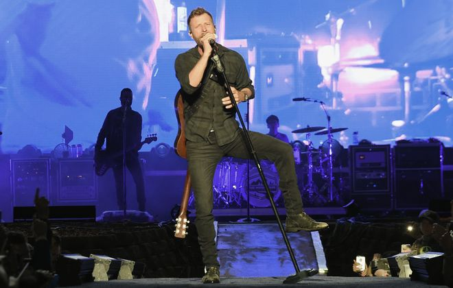 Country star Dierks Bentley, pictured performing in Wisconsin, brought his Mountain High Tour to Darien Lake on Saturday. (Rick Diamond/Getty Images)