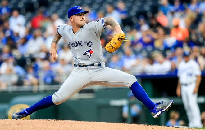 Sean Reid-Foley makes his major league debut (Brian Davidson/Getty Images)
