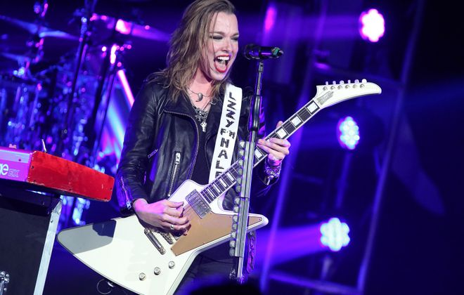 Singer-guitarist Lzzy Hale, seen performed in July 2018, will not perform in Artpark tonight. Terry Wyatt/Getty Images)