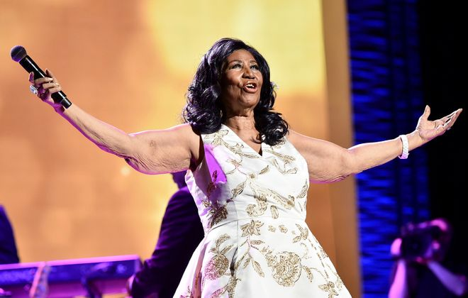 "Aretha Franklin performs onstage during the ""Clive Davis: The Soundtrack of Our Lives"" Premiere Concert during the 2017 Tribeca Film Festival at Radio City Music Hall on April 19, 2017 in New York City. Theo Wargo/Getty Images for Tribeca Film Festival"