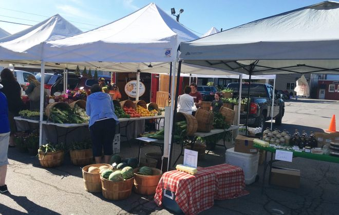 Hamburg's Farmers Market is located in the village parking lot Saturday mornings.  (Emeri Krawczyk/Special to The News)