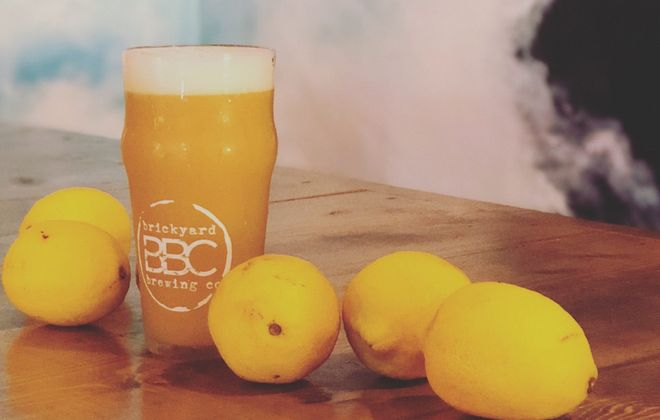 Brickyard Brewing's Mario's Brother packs a lemony punch. (via Brickyard)
