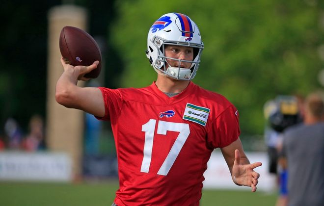 Bills rookie quarterback Josh Allen will make his first career start Sunday. (Harry Scull Jr./Buffalo News)
